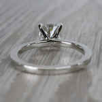 Pretty Pave Cushion Moissanite Diamond Engagement Ring - small angle 4