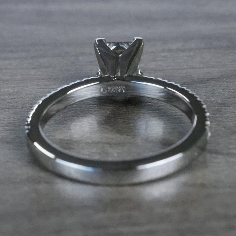 Pretty Petite Pave Princess Cut Diamond Engagement Ring angle 4