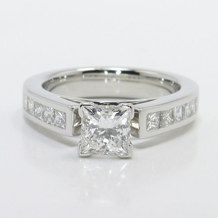 1 Carat Princess Channel Diamond Engagement Ring