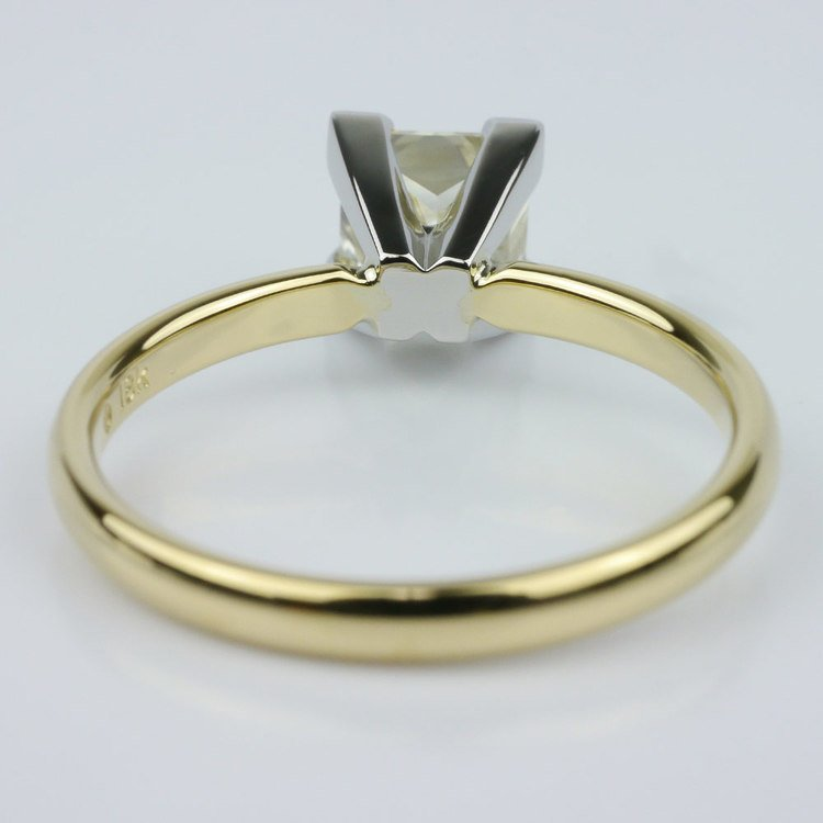 Comfort-Fit Solitaire Ring Featuring a Princess Diamond angle 4