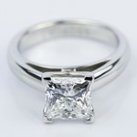 Princess Cut Diamond with Cathedral Solitaire Ring (1.60 ct.) - small