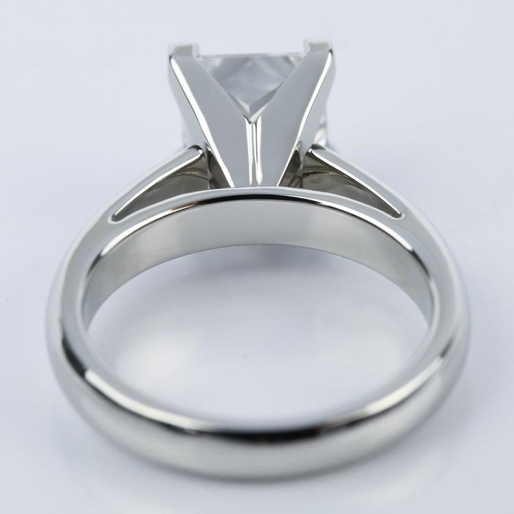 Princess Cut Diamond with Cathedral Solitaire Ring (1.60 ct.) angle 4