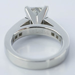 Princess Cut Diamond Channel Engagement Ring (1.50 Carat) - small angle 4