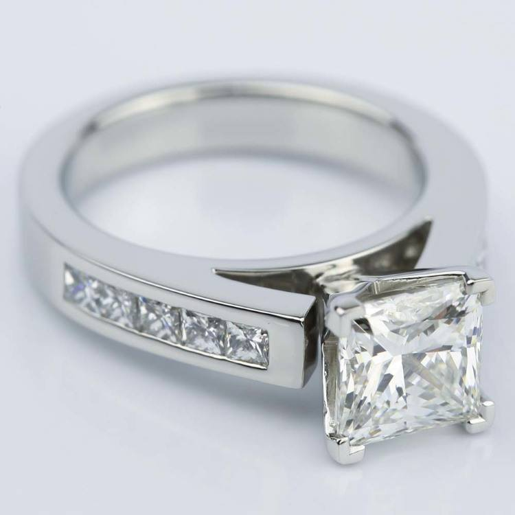 Princess Cut Diamond Channel Engagement Ring (1.50 Carat) angle 3