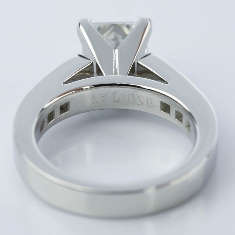 Princess Cut Diamond Channel Engagement Ring (1.50 Carat) angle 4