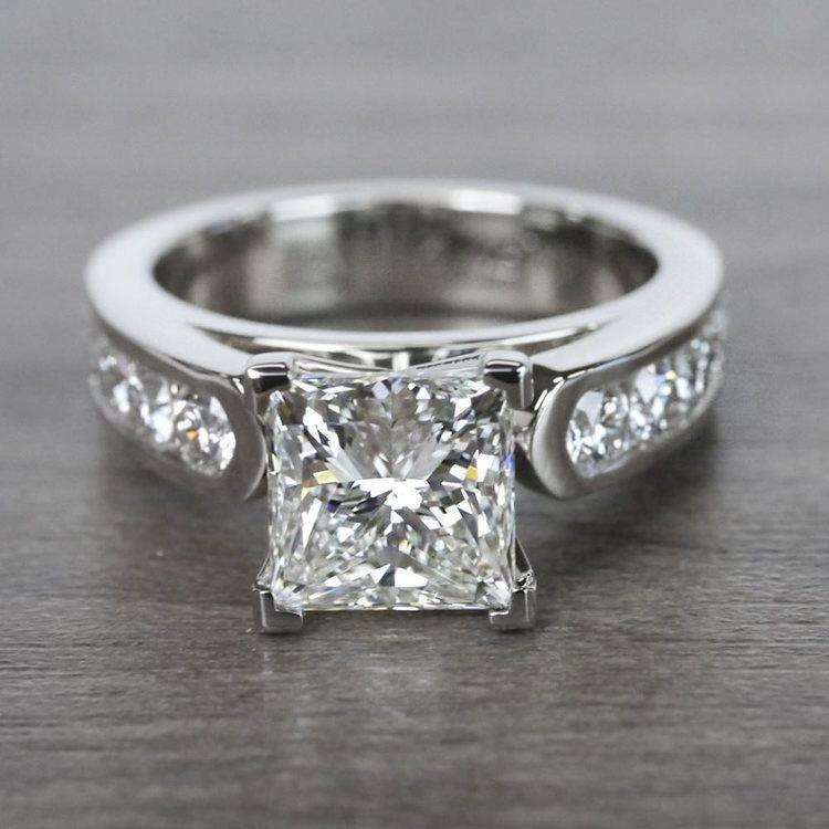 Princess Cut Diamond Channel Set Engagement Ring