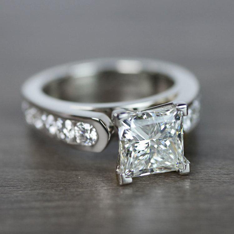 Princess Cut Diamond Channel Set Engagement Ring angle 3