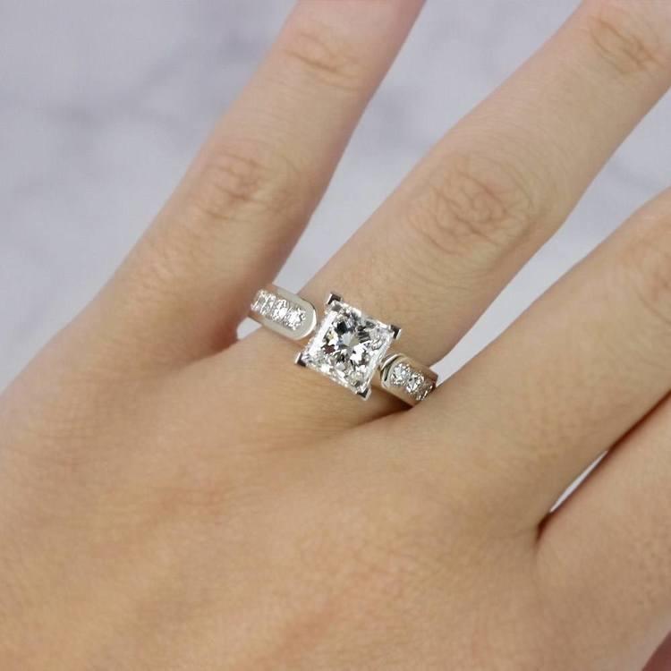Princess Cut Diamond Channel Set Engagement Ring angle 5