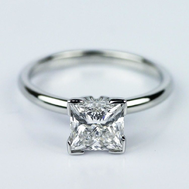 Princess Cut Diamond with Solitaire Setting in Platinum (1.60 ct.)