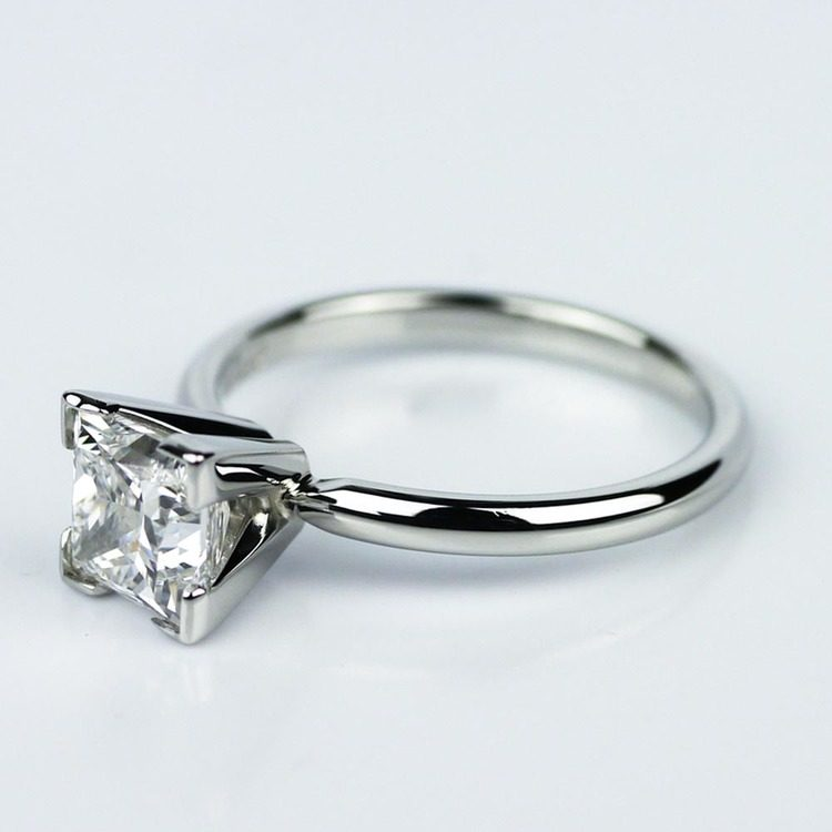 Princess Cut Diamond with Solitaire Setting in Platinum (1.60 ct.) angle 2