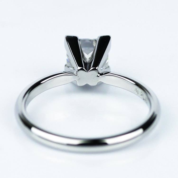 Princess Cut Diamond with Solitaire Setting in Platinum (1.60 ct.) angle 4