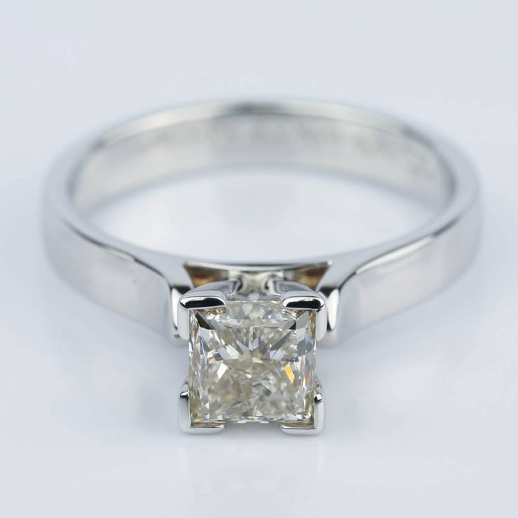 Princess Diamond Contour Solitaire Engagement Ring (1.21 ct.)