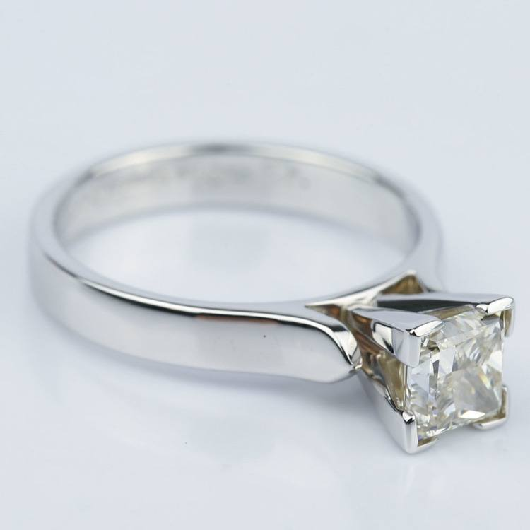 Princess Diamond Contour Solitaire Engagement Ring (1.21 ct.) angle 3