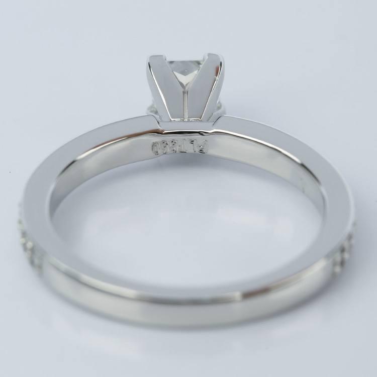 Princess Diamond Engagement Ring with Pave Band (0.54 ct.) angle 4