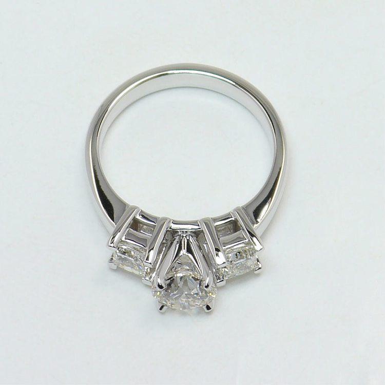 0.90 Carat Round & Princess Diamond Engagement Ring angle 4