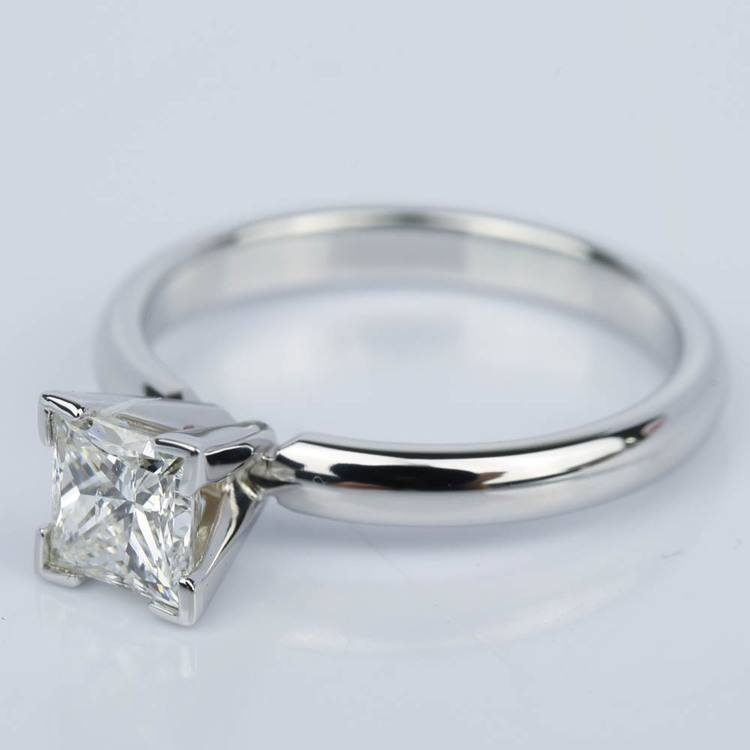 Princess Diamond Classic Solitaire Engagement Ring (0.85 ct.) angle 2