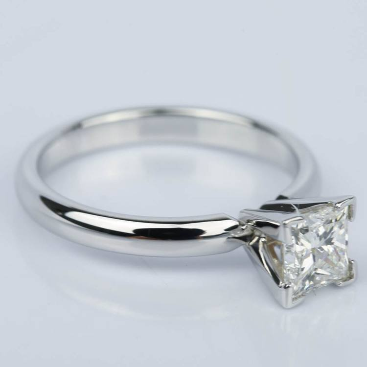 Princess Diamond Classic Solitaire Engagement Ring (0.85 ct.) angle 3