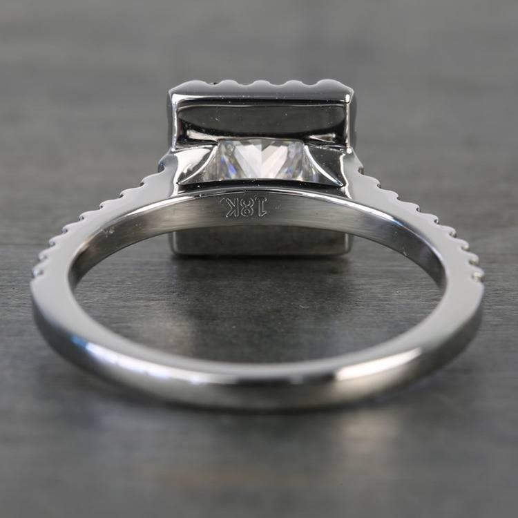 Princess Halo 1.20 Carat Diamond Engagement Ring angle 4