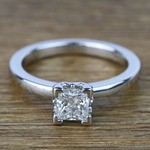 Princess Solitaire Diamond Engagement Ring (0.80 Carat) - small