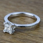 Princess Solitaire Diamond Engagement Ring (0.80 Carat) - small angle 2