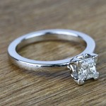 Princess Solitaire Diamond Engagement Ring (0.80 Carat) - small angle 3