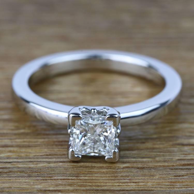 Princess Solitaire Diamond Engagement Ring (0.80 Carat)