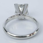 Princess Solitaire Diamond Engagement Ring in Platinum (2 Carat) - small angle 4