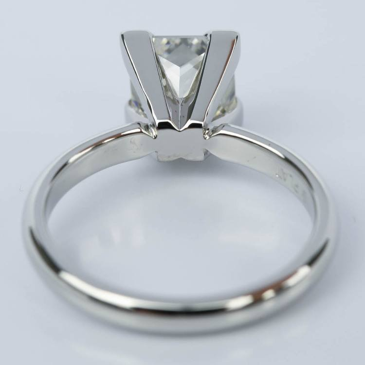 Princess Solitaire Diamond Engagement Ring in Platinum (2 Carat) angle 4
