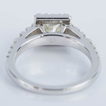 Princess Split Shank Halo Diamond Engagement Ring (0.75 ct.) - small angle 4