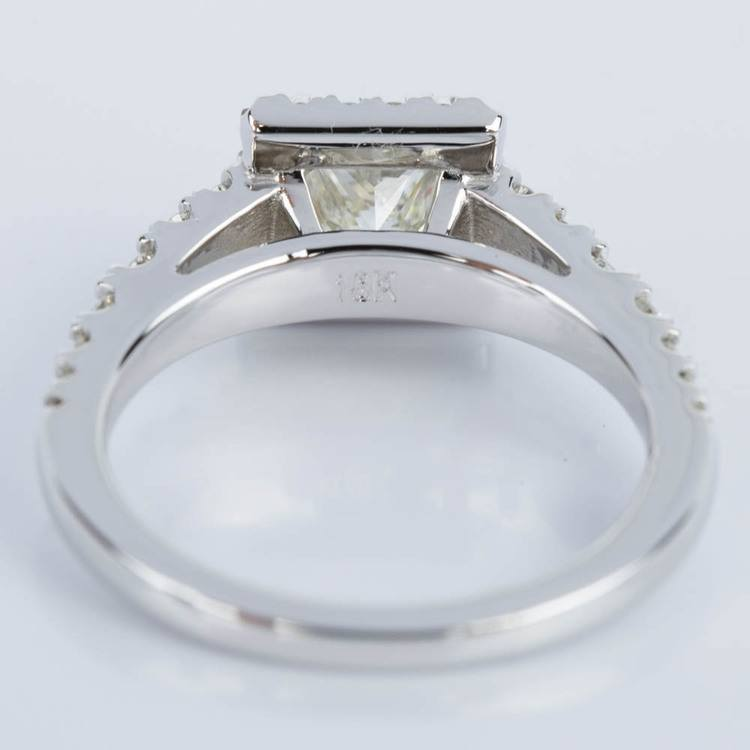 Princess Split Shank Halo Diamond Engagement Ring (0.75 ct.) angle 4