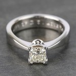 Princess Taper Solitaire Diamond Engagement Ring (0.67 Carat) - small