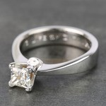 Princess Taper Solitaire Diamond Engagement Ring (0.67 Carat) - small angle 2