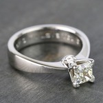 Princess Taper Solitaire Diamond Engagement Ring (0.67 Carat) - small angle 3