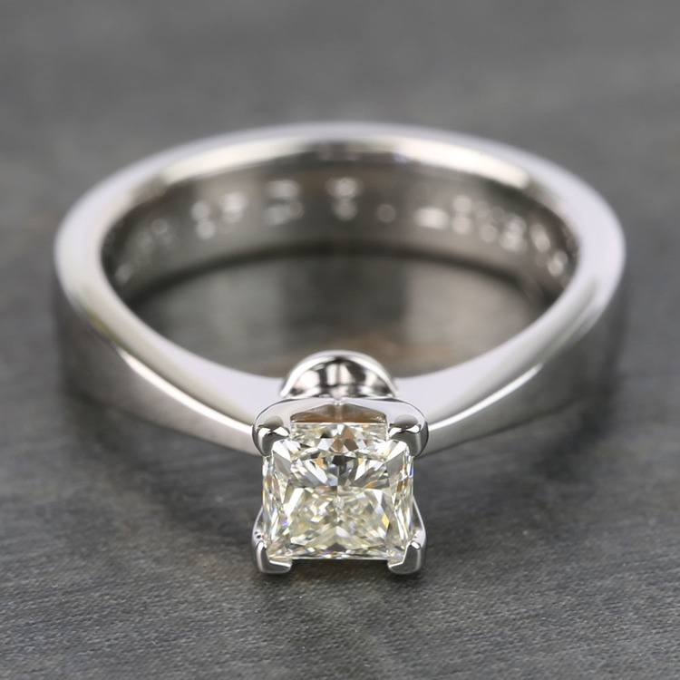 Princess Taper Solitaire Diamond Engagement Ring (0.67 Carat)