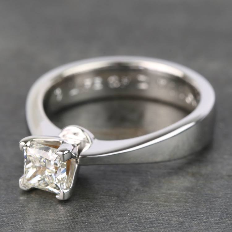 Princess Taper Solitaire Diamond Engagement Ring (0.67 Carat) angle 2