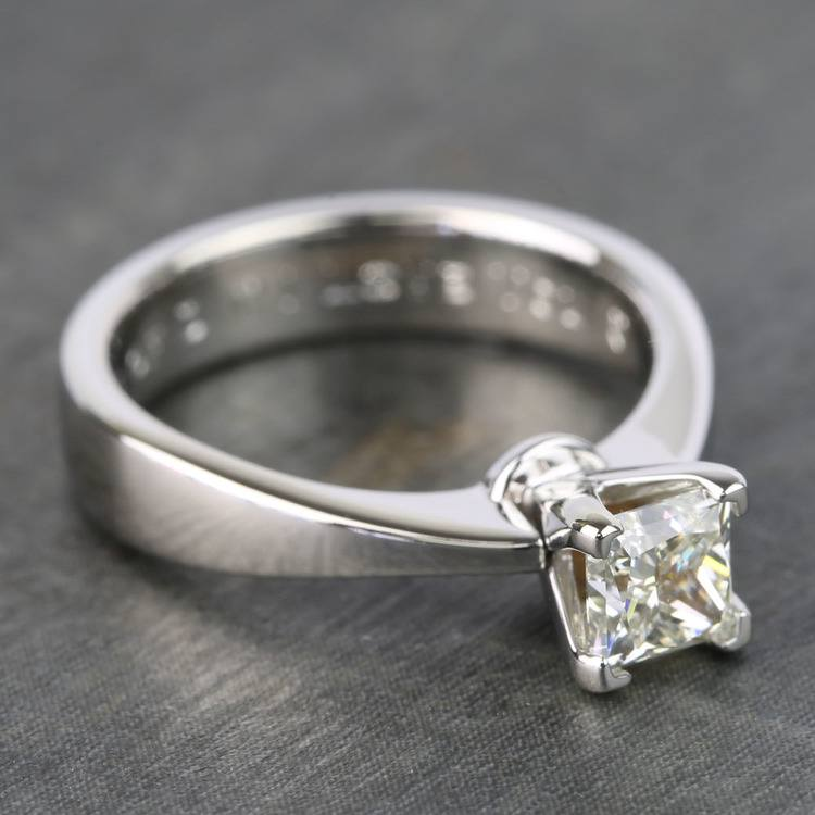 Princess Taper Solitaire Diamond Engagement Ring (0.67 Carat) angle 3