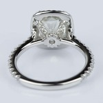 Radiant Halo Diamond Engagement Ring in Platinum (2.25 ct.) - small angle 4