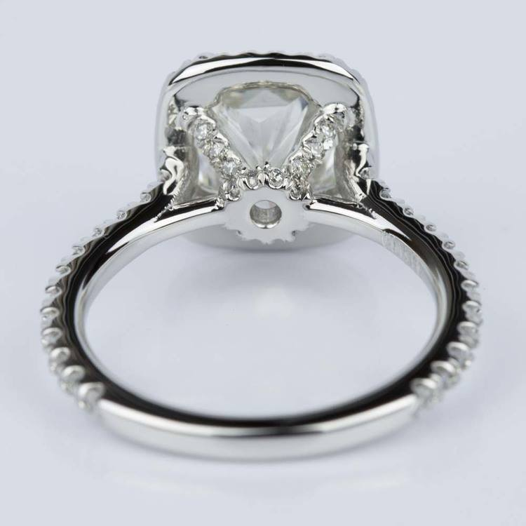 Radiant Halo Diamond Engagement Ring in Platinum (2.25 ct.) angle 4