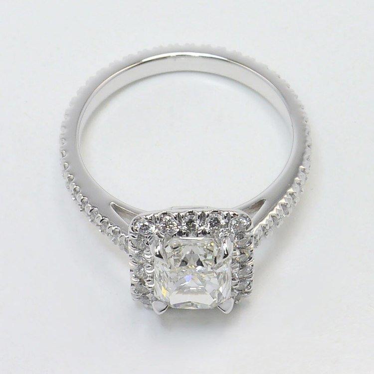 Radiant Halo Engagement Ring angle 4