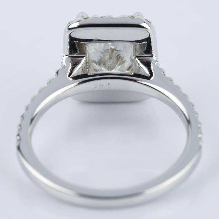 Radiant Shape Diamond Halo Engagement Ring (2.50 Carat) angle 4