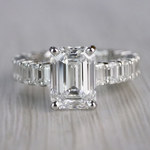 Excellent Eternity Inspired Emerald Cut Diamond Ring  - small