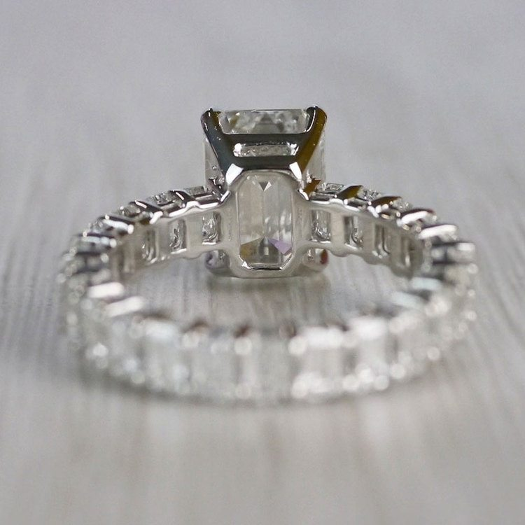 Excellent Eternity Inspired Emerald Cut Diamond Ring  angle 4