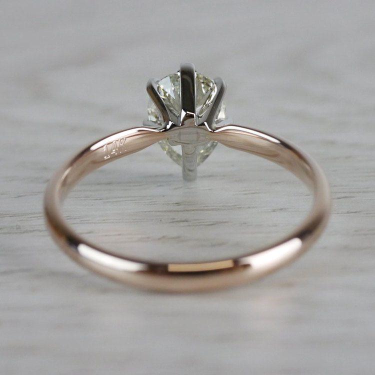 Ravishing Rose Gold Pear Cut 1 Carat Diamond Ring angle 4