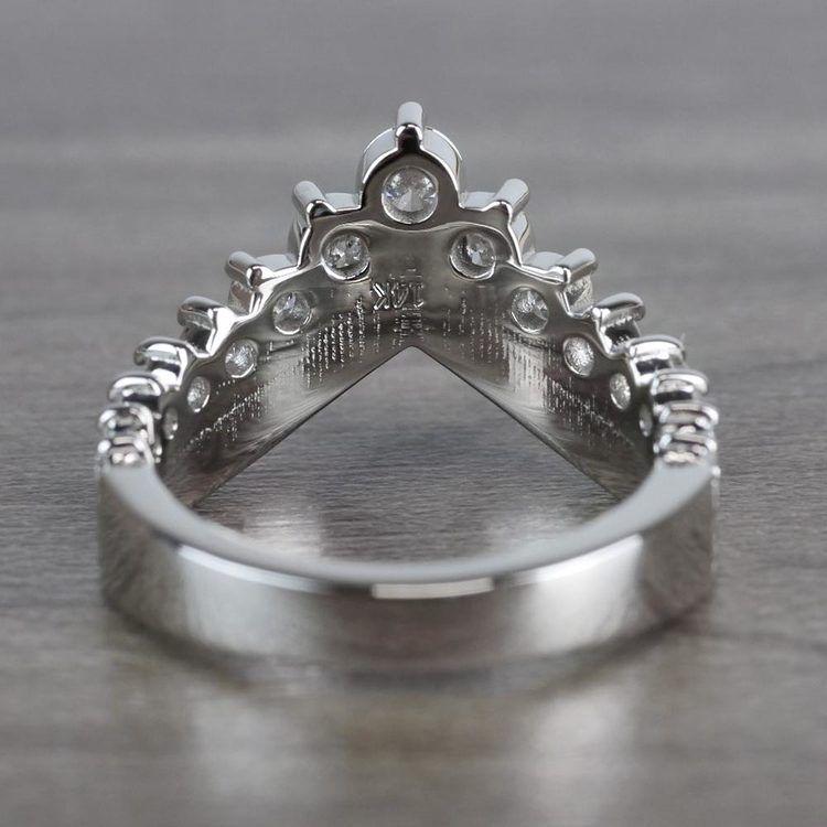 Regal Diamond Tiara Engagement Crown Ring angle 4