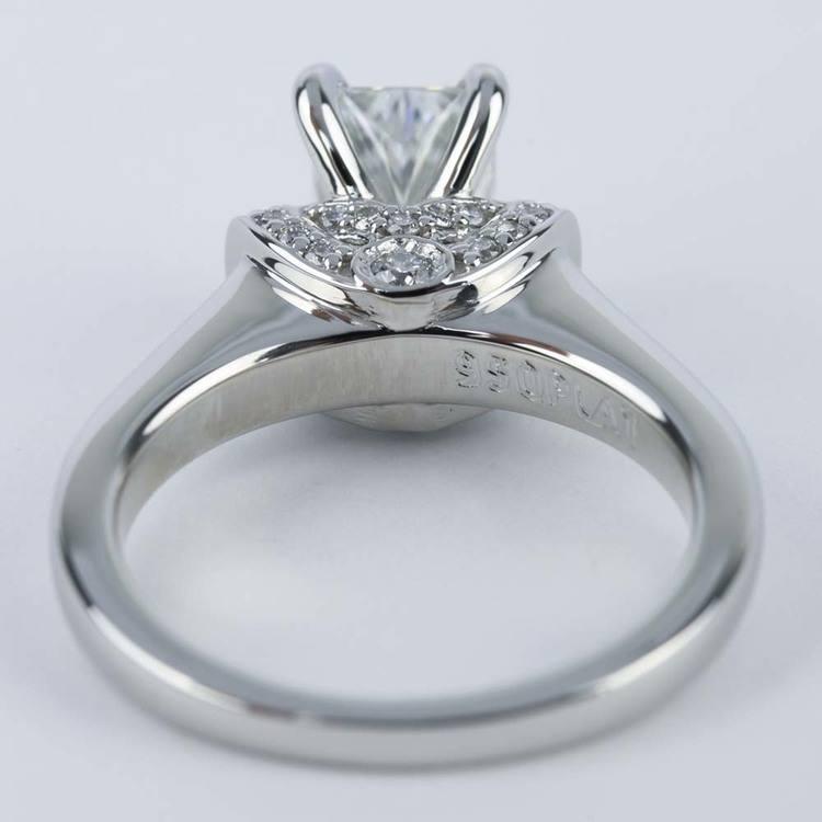 Ribbon Diamond Engagement Ring with Radiant Cut Diamond (1.21 ct.) angle 4