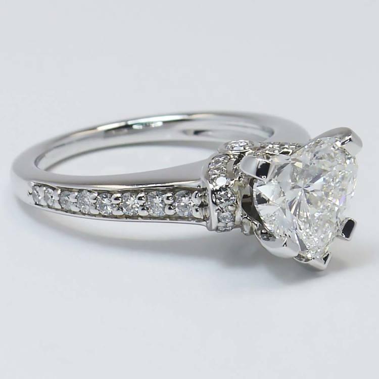 2 Carat Ribbon Surprise Heart Diamond Engagement Ring angle 4