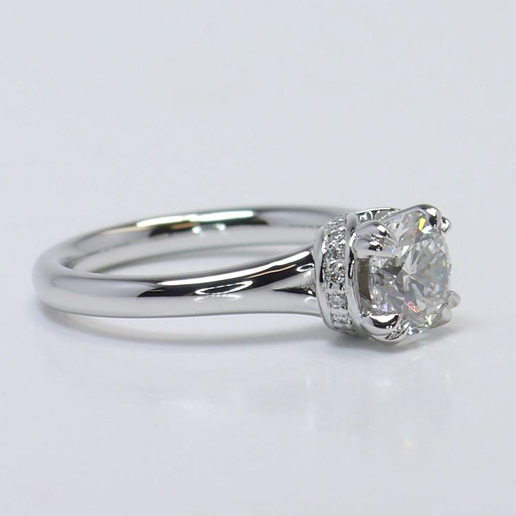 Ribbon Solitaire Engagement Ring  angle 3