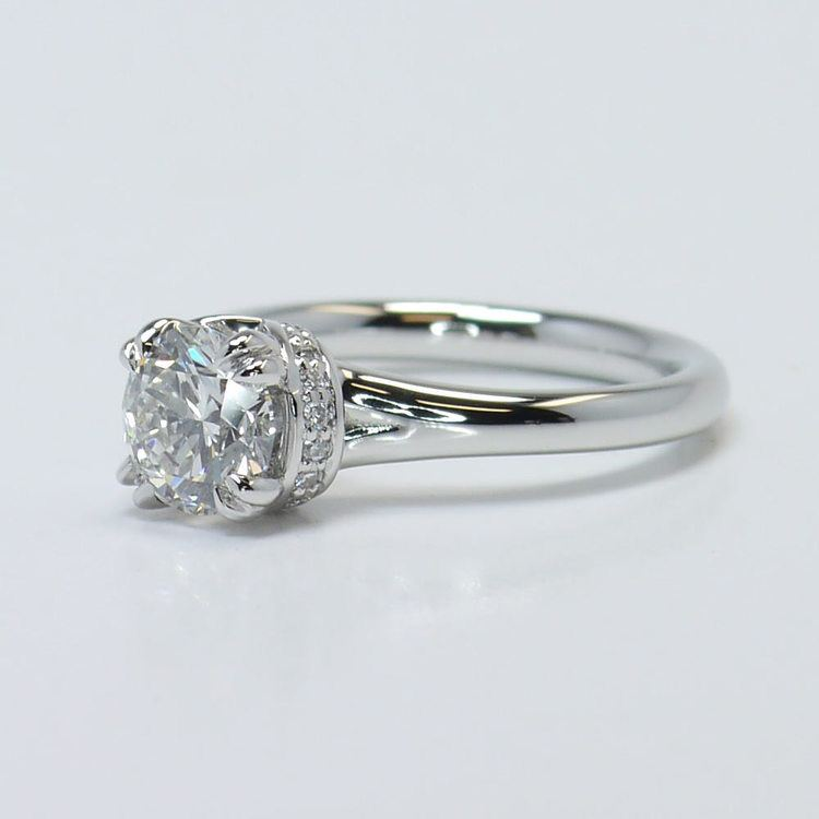 Ribbon Solitaire Engagement Ring  angle 2
