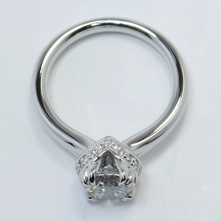 Ribbon Solitaire Engagement Ring  angle 4