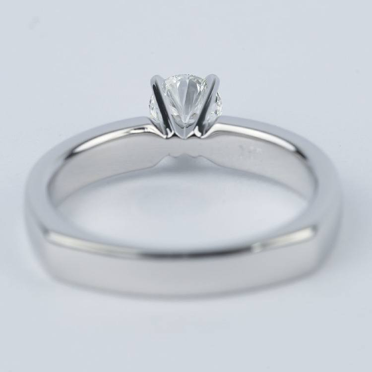 Rocker-Style Diamond Solitaire Engagement Ring (1/2 Carat) angle 4